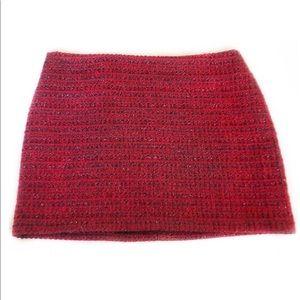 Alice + Olivia Elena Metallic Tweed Mini Red Sz 4